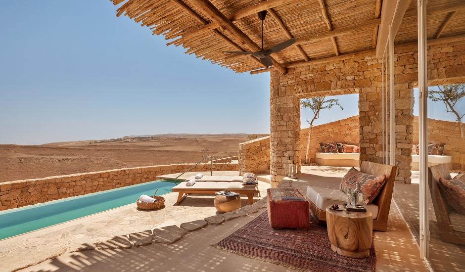 Villa over looking desert