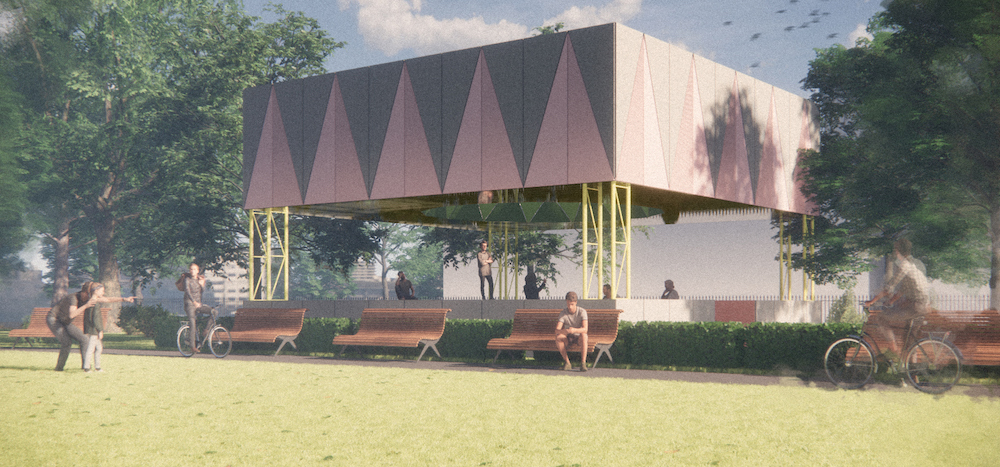 Render of a bandstand pavilion