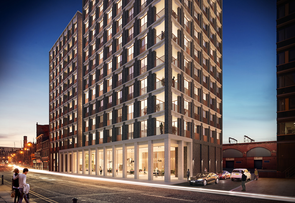 Image caption: CGI rendering of the exterior of a building