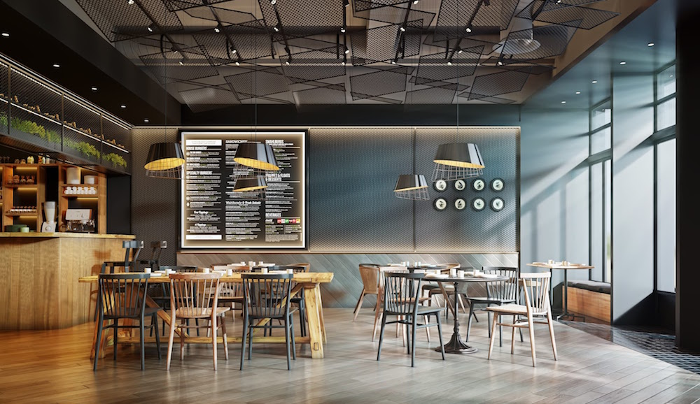Image credit: CGI rendering of a café   Image credit: North Made Studio