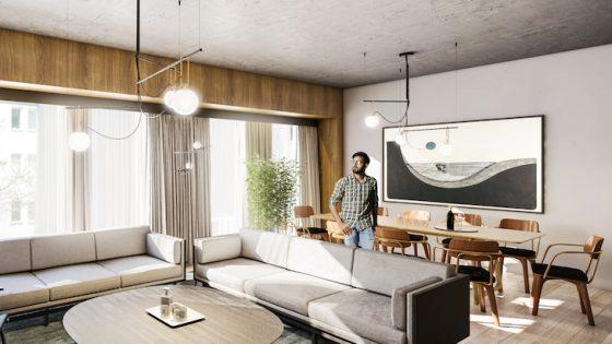 industrial looking suite