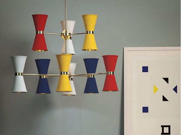 Red, yellow and blue pendents