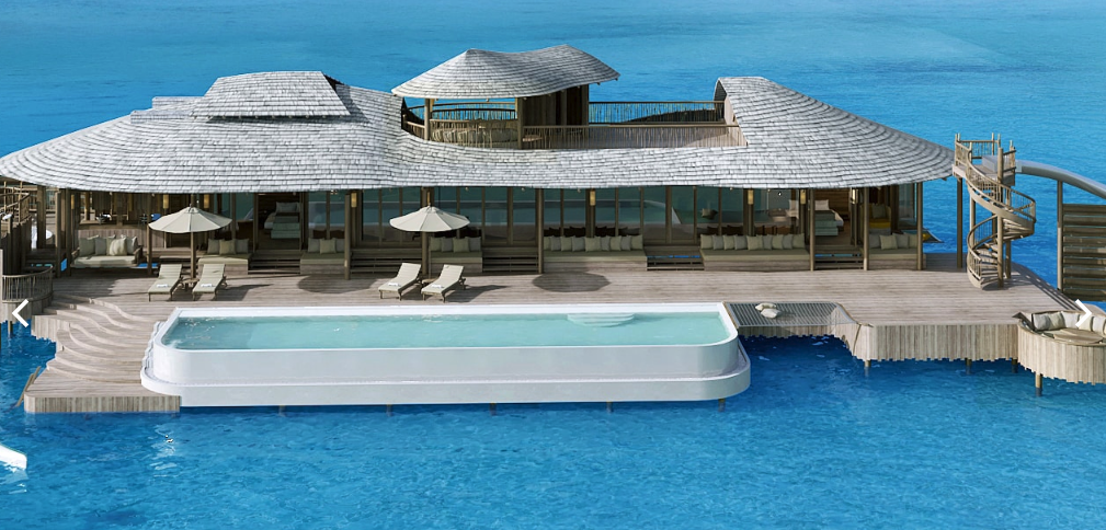 Render of luxe villa on the water