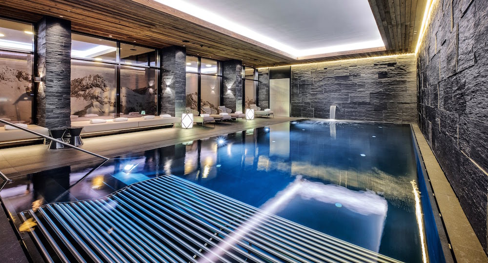 Luxury pool inside the hotel