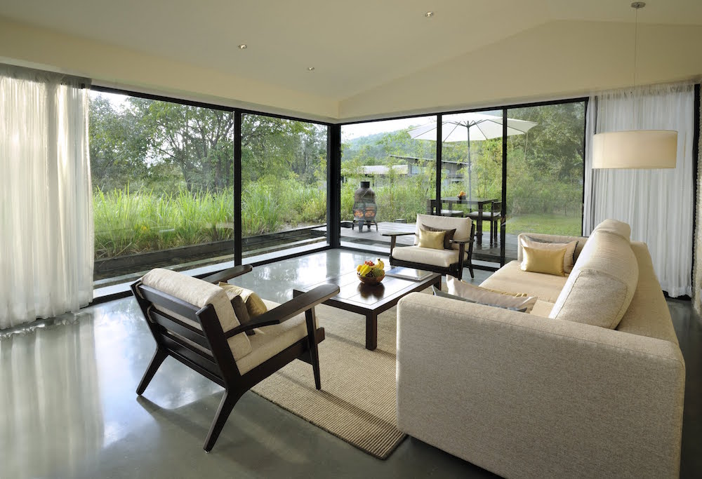 Lounge overlooking greenery