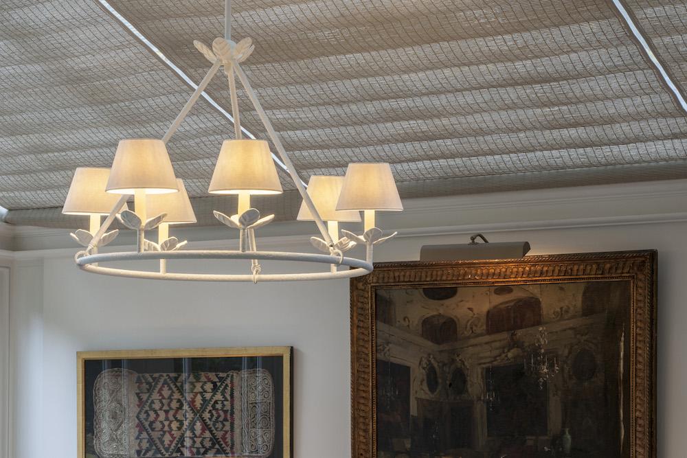 Chalk-like chandelier