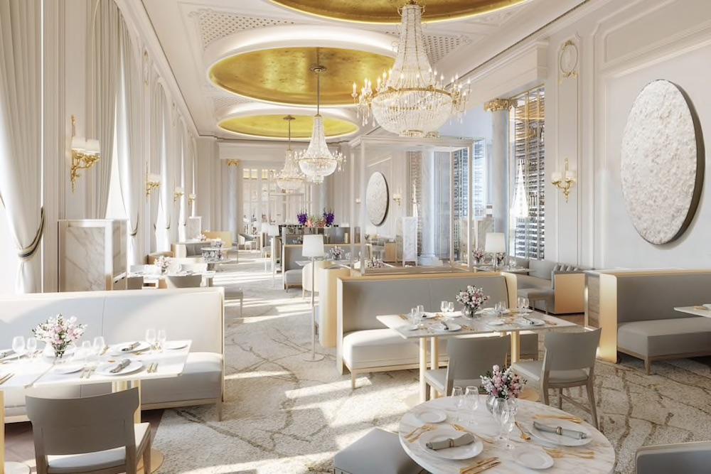 Image caption: Rendering of the restaurant inside the hotel | Image credit: Mandarin Oriental