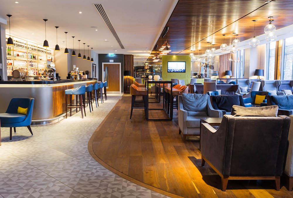 Modern, spacious bar area
