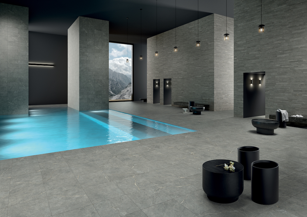 Anthology surfaces in spa area