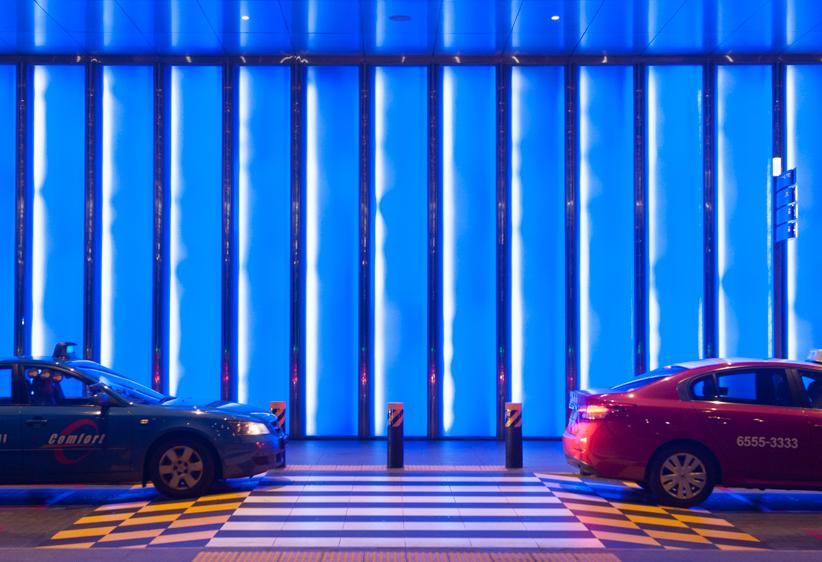 Image caption: Artwall At Marina Bay Sands Singapore