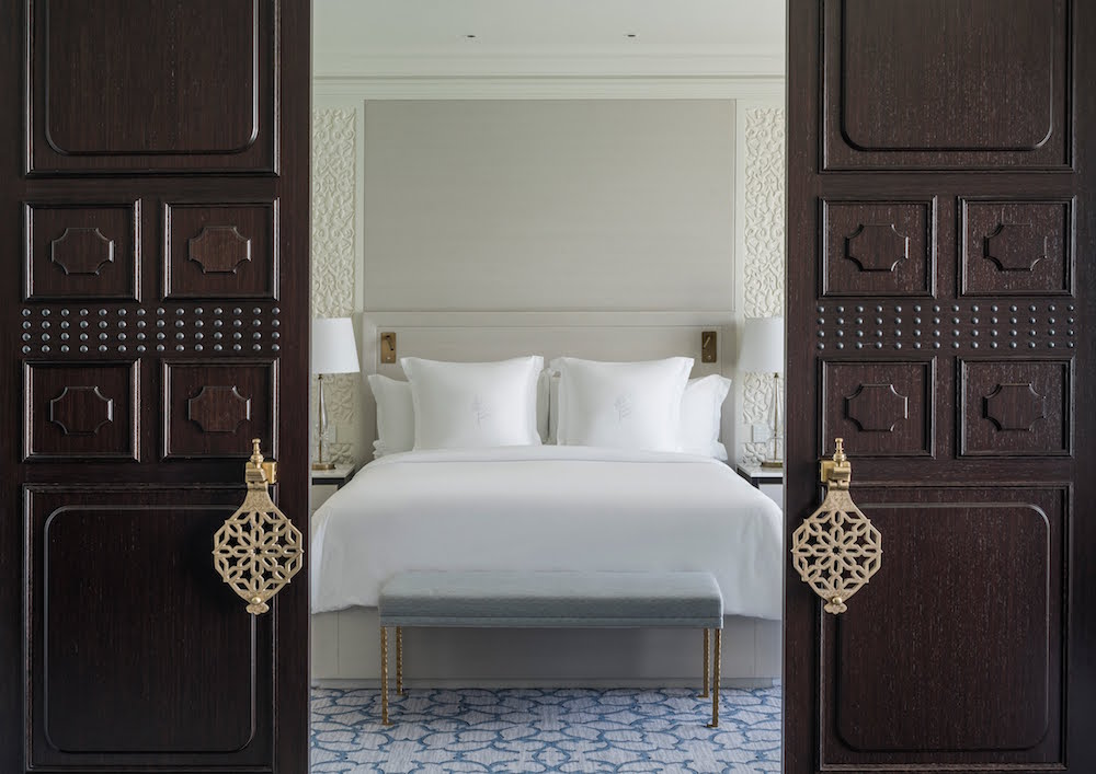 Image caption: Two majestic sliding doors break up the space in the suites | Image credit: Four Seasons Hotels & Resorts