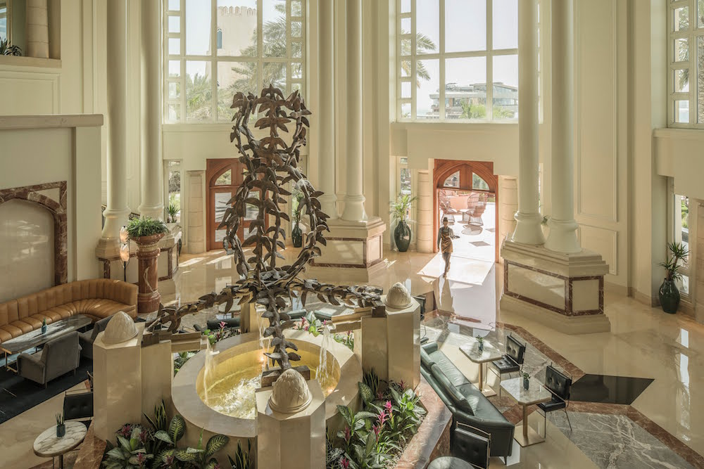 Image caption: The grand entrance is muted aptly with a theme of bringing the outdoors inside | Image credit: Four Seasons Hotels & Resorts
