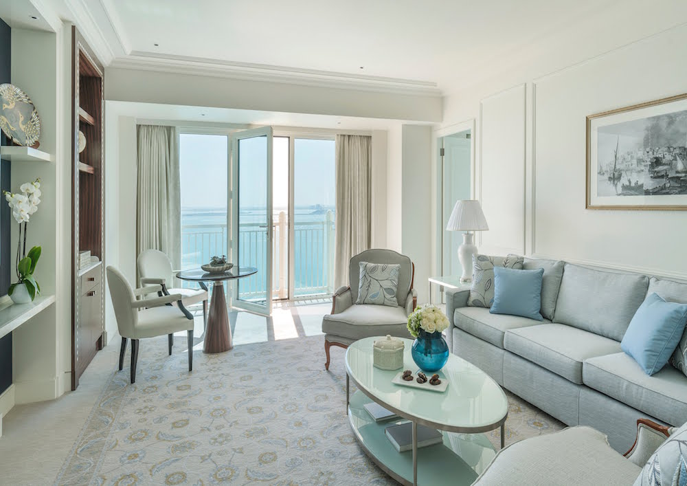 Image caption: The guestrooms and suites have been inspired by sky, sea and sand | Image credit: Four Seasons Hotels & Resorts