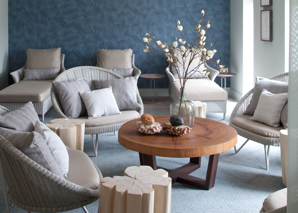 Image caption: The relaxation area inside The Spa at South Lodge