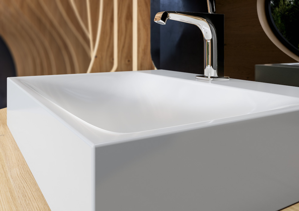 Image caption: Kaldewei's Silenio Washbasin Alpine White With Easy-Clean Finish