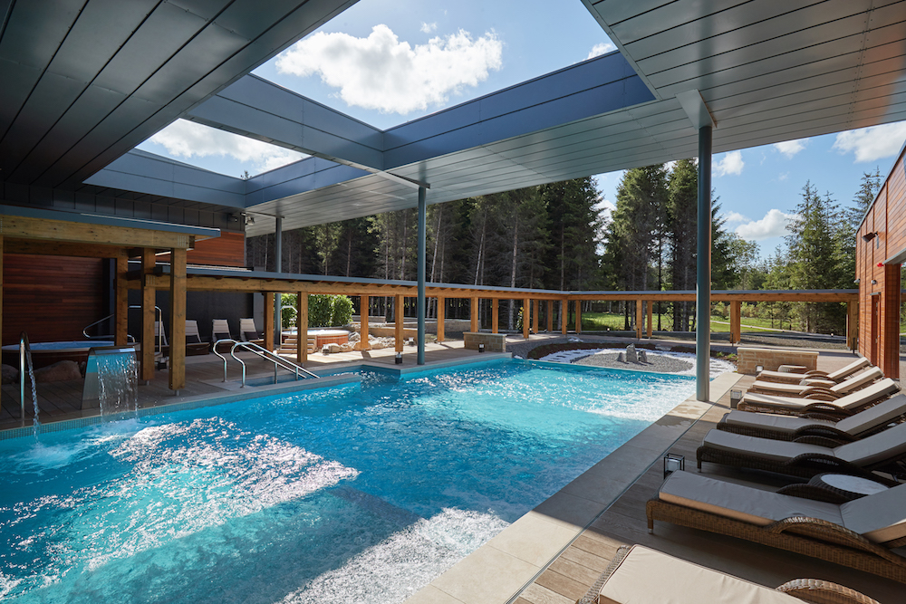 Image caption: The outdoor pool at Aqua Sana Longford Forest