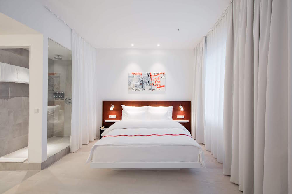 White and simple guestroom
