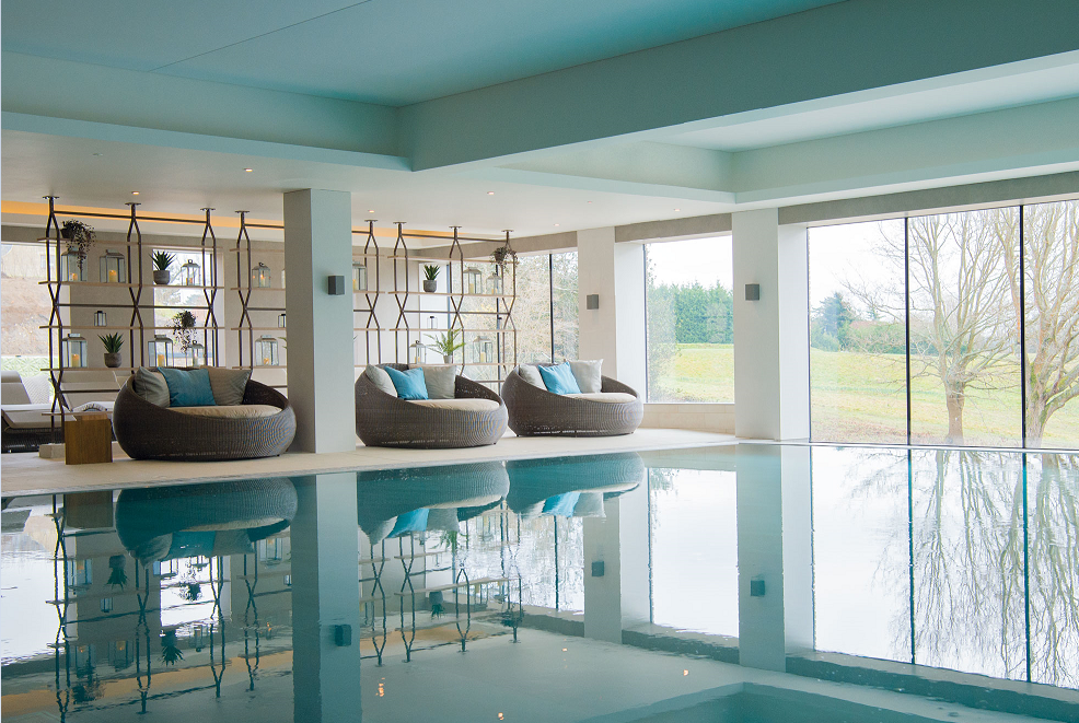 Image caption: The Spa at South Lodge, designed by Sparcstudio