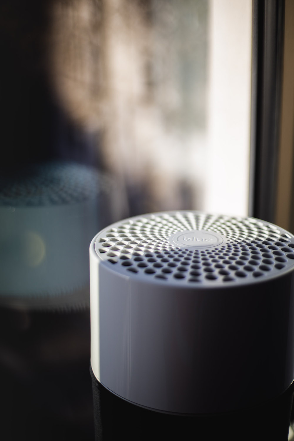 A close up of the hygienic air purifier