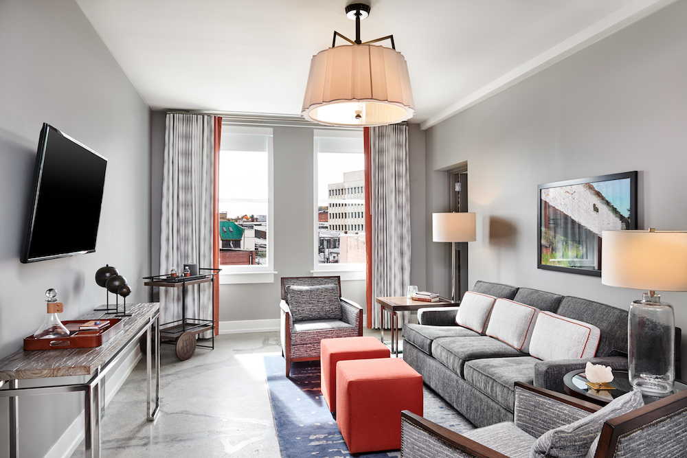 Luxury lighting in a residential style suite