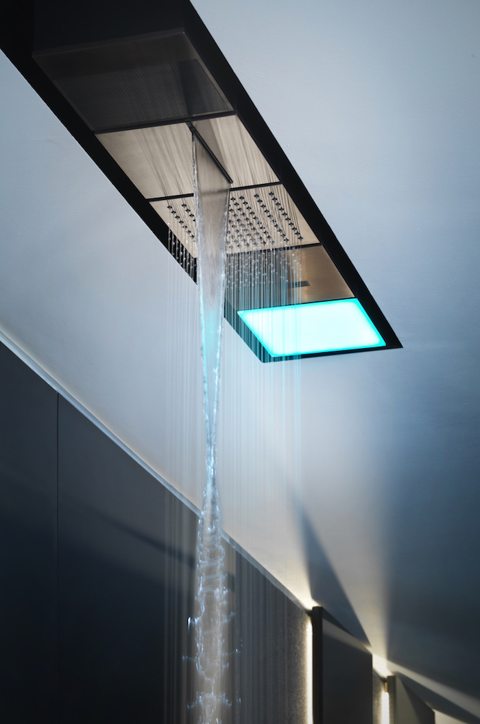 A large modern wellness shower