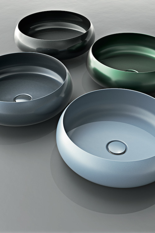 pastel coloured basins