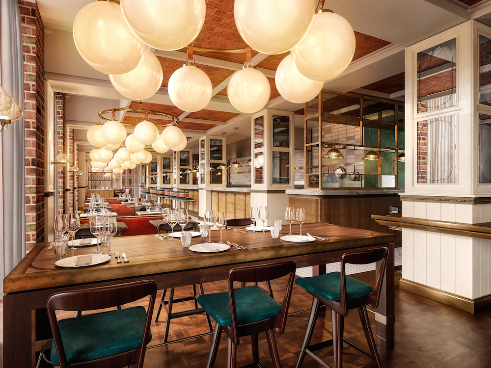 Image caption: The Brasserie inside Villa Copenhagen