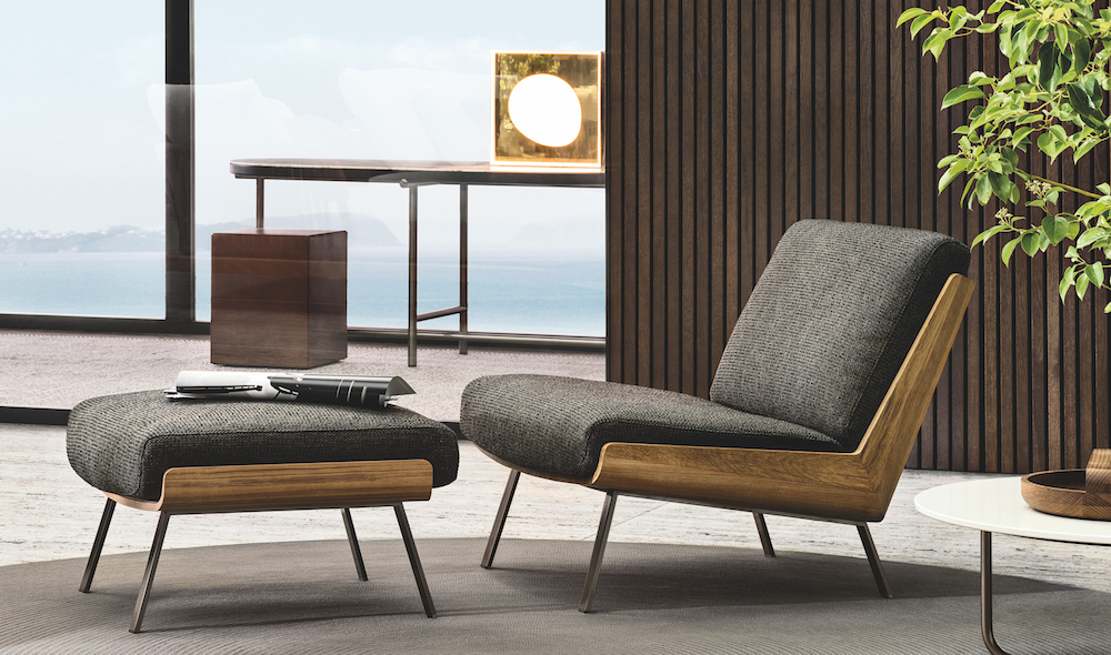 The low-level Daiki outdoor chair by Minotti