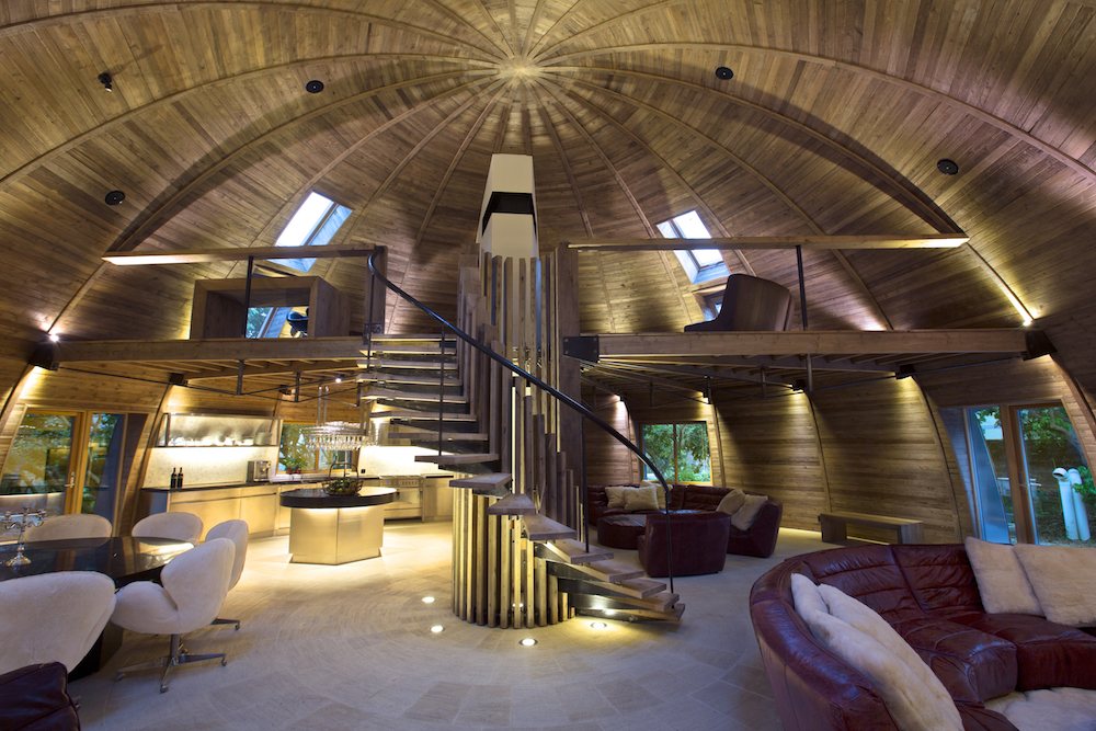 Inside the luxury dome