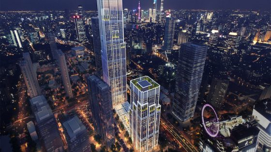 Building which will be the rosewood hotel in Shanghai