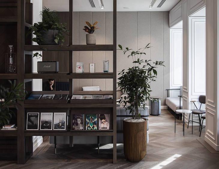 Modern lobby area with clean air
