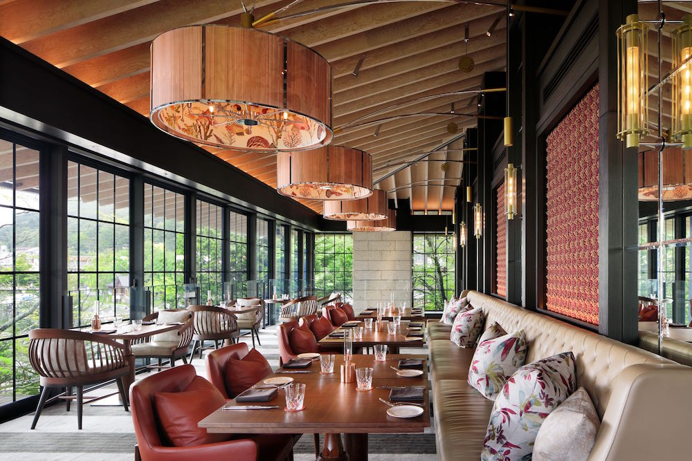 Stylish restaurants with nod to natural wood and materials in design