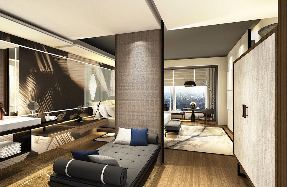 A very minimalist guestroom