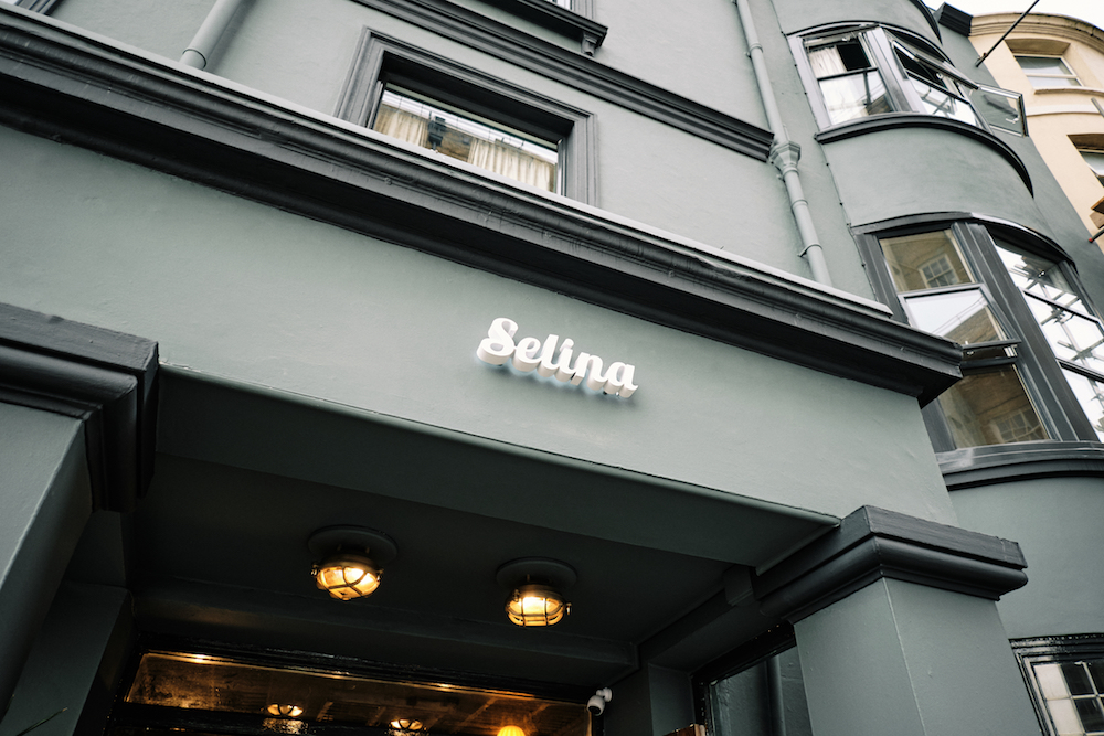Selina sign above the entrance