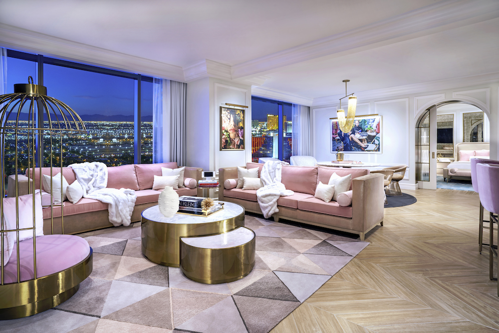 A pink themed suite