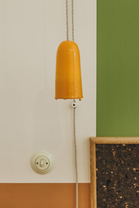 Orange crafted lamp