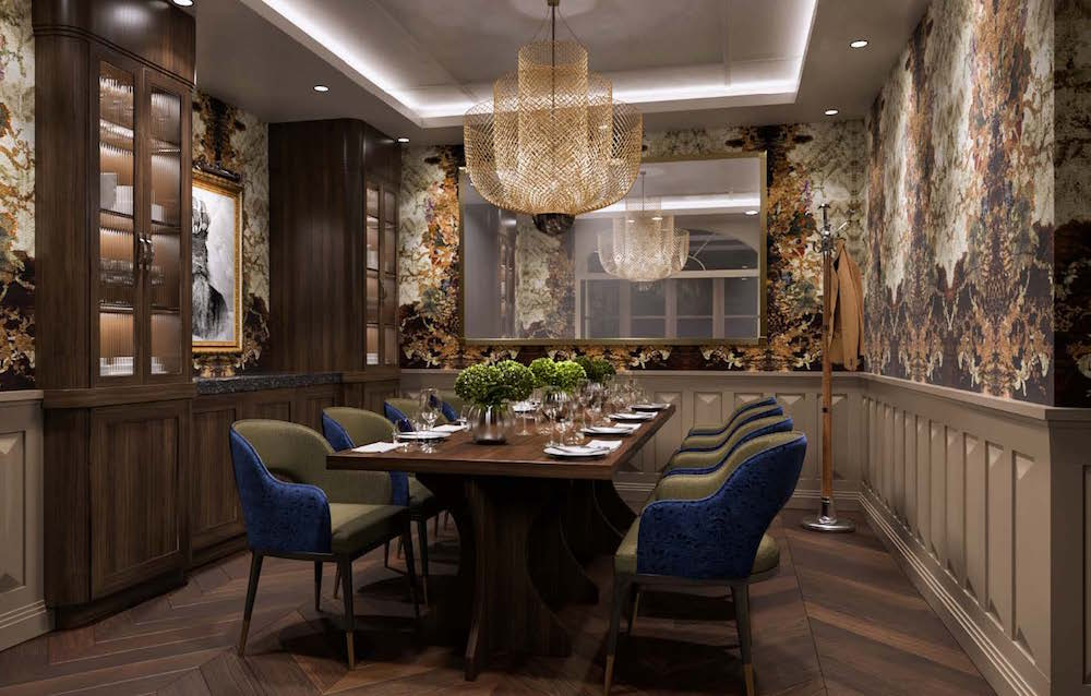 Luxe dining area