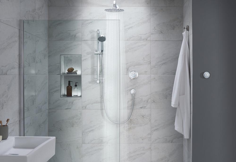 A modern shower.