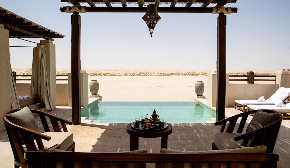 Pool overlooking the desert