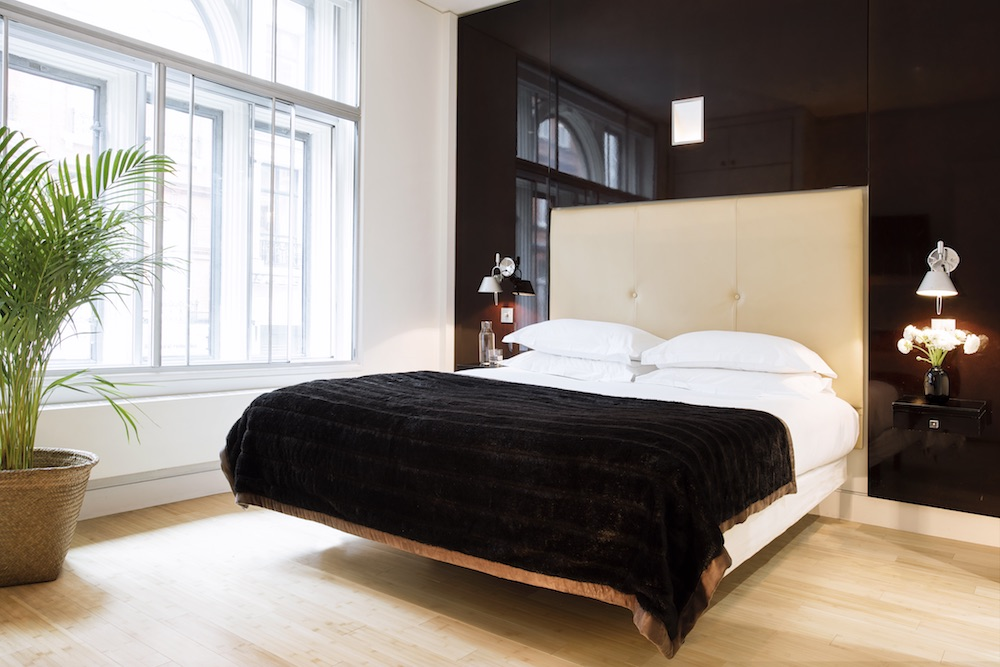 A luxe masculine bedroom