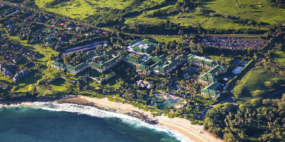 Grand Hyatt Kauai from above by Nicholas Doyle