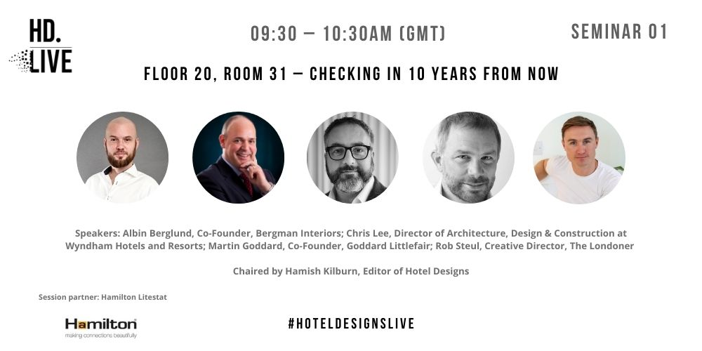 Programme for Hotel Designs LIVE - session 1