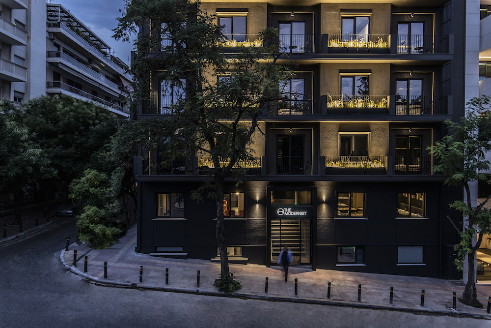 Exterior photograph of The Modernist in Athens