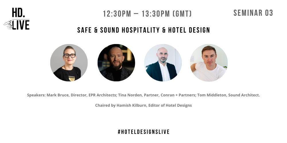 Programme for Hotel Designs LIVE - session 3