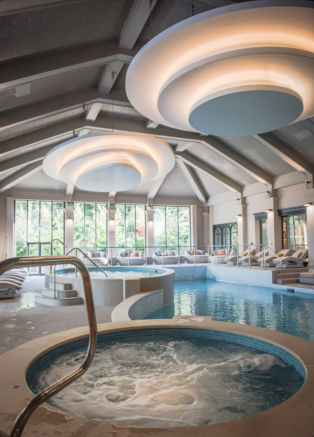 Image of Jacuzzi and pool inside Mottram Hall