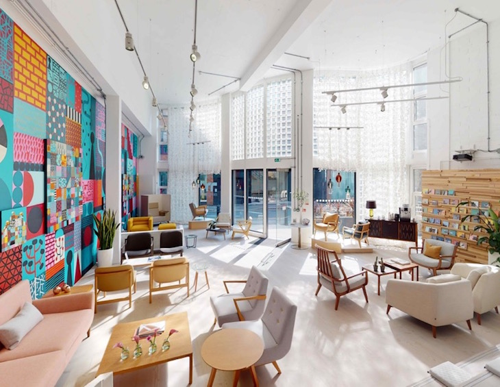 Colourful Morgan showroom in Clerkenwell, featuring an option of contemporary furniture