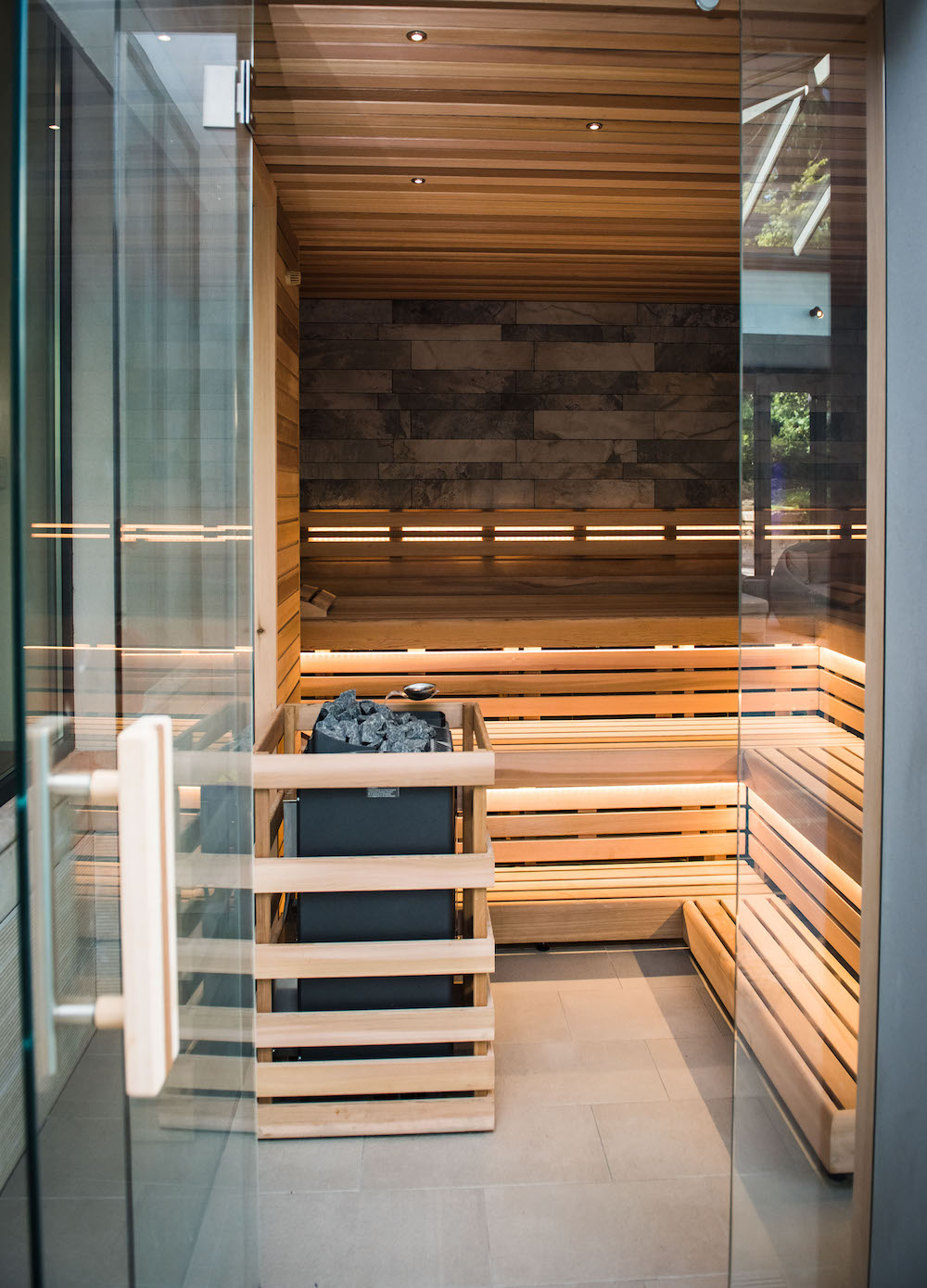 Image of empty sauna