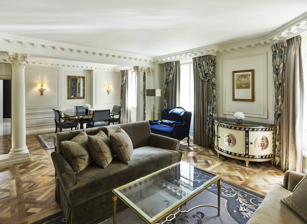 The living room inside The Mayfair Suite | Image credit: The Dorchester
