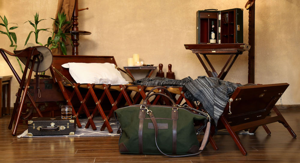Image of safari luggage and tools