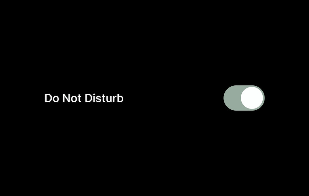 An animation that says do not disturb